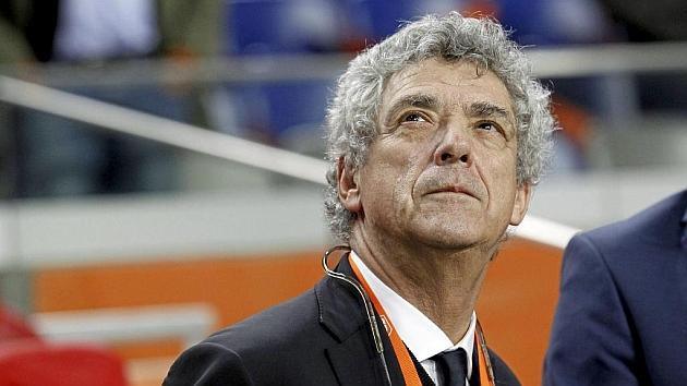 Villar durante un partido de la Selección Española