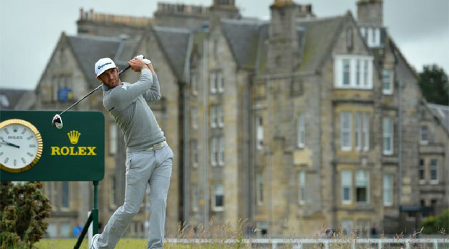 Dustin Johnson durante el British Open