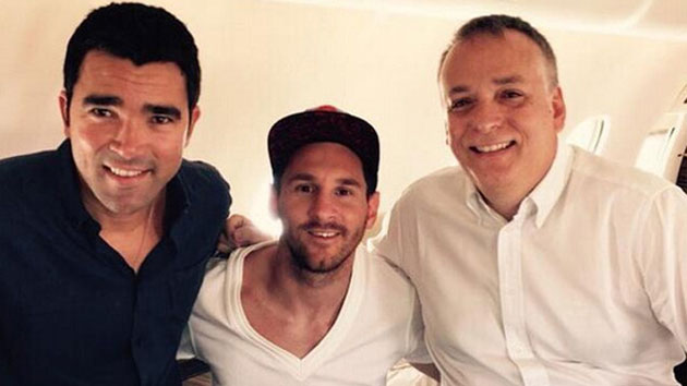 Messi se reencuentra con Deco en Gabón