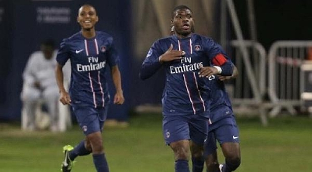 Franck-Yves Bambock, en un partido con el PSG