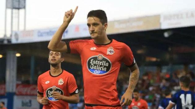 Luis Alberto celebra su gol ante la Ponferradina
