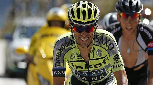 Contador, durante la 18ª etapa del Tour