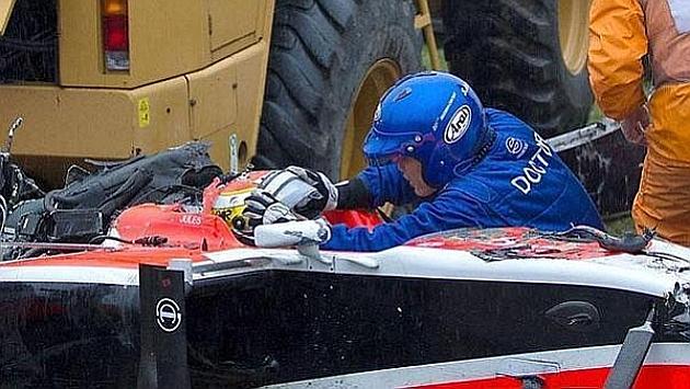 Bianchi sufrió un impacto de 254G