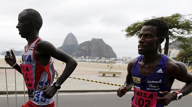 Willy Kimutai en el maratón de Rio de Janeiro