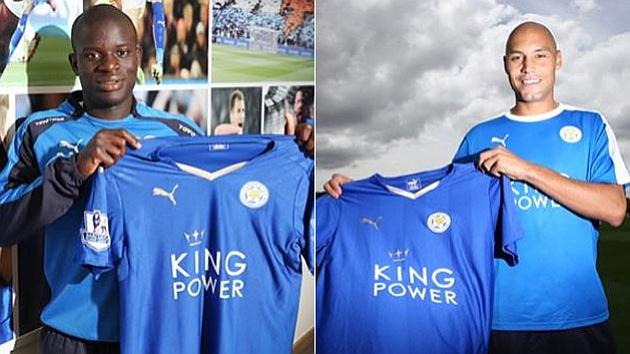Los dos nuevos jugadores del Leicester City.