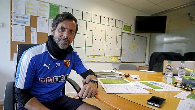 Quique Sánchez Flores, en su despacho de la Ciudad Deportiva.