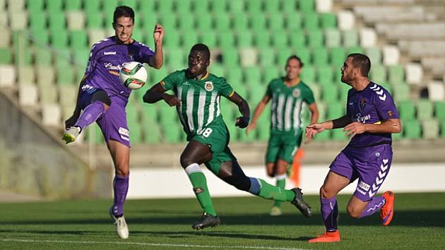 Imagen del partido del Valladolid en el Estadio do Rio Ave