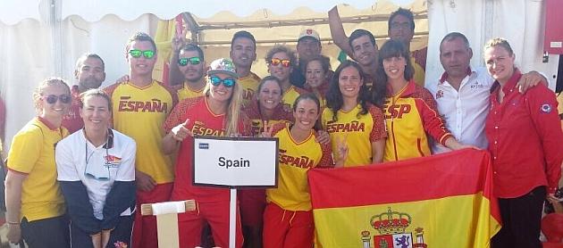 La selección española de Salvamento.