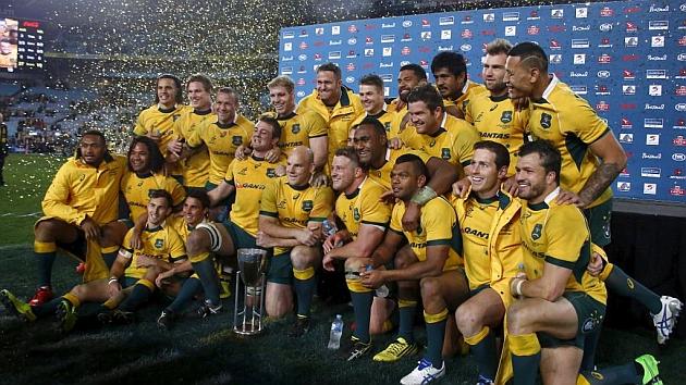 Los 'Wallabies' celebran en Sidney su primer título en cuatro años: The Rugby Championship de 2015