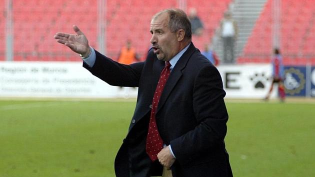 Juanjo Enríquez durante su etapa como entrenador