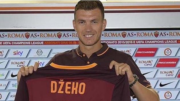 La Roma hace oficial el fichaje de Dzeko