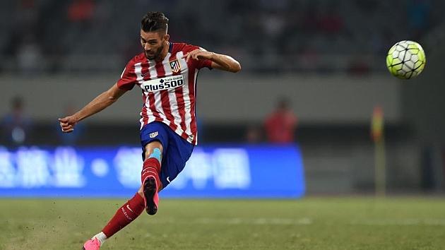 Carrasco, en un partido de pretemporada con el Atlético