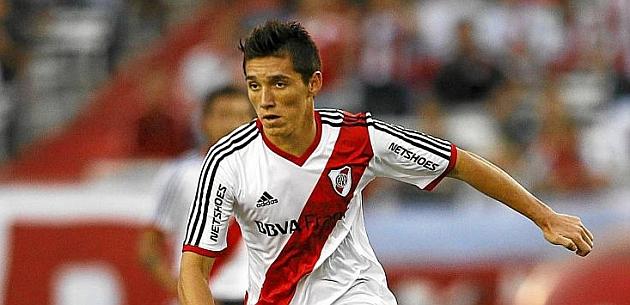 Kranevitter, en un partido con River Plate