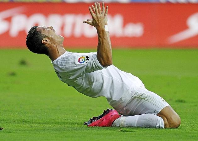 Cristiano Ronaldo, ante el Sporting. Foto: ÁNGEL RIVERO (MARCA)