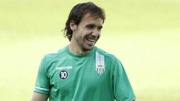 Joan Verdú, en su etapa en el Real Betis