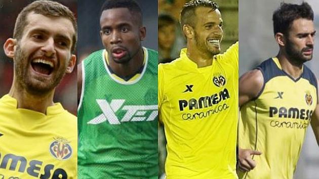 Baptistao, Bakambu, Soldado y Adrián, nueva delantera al completo.