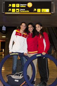 Carolina, Ruth y Sara atendieron a MARCA.com a su llegada de la Asker Cup. Foto: M. Valero