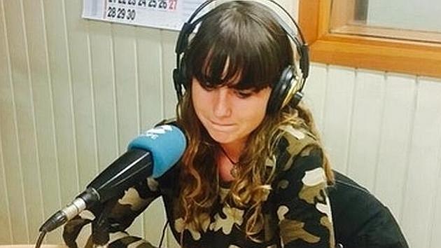 Zaira, durante la entrevista en el programa de 'El partido de las 12'
