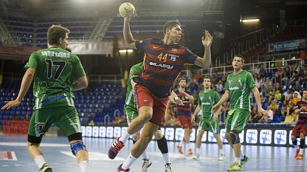 Daniel Dujshebaev, en su debut con el primer equipo del Barcelona / FOTO: PACO LARGO