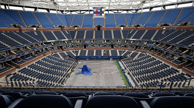 Peligra el final del US Open en domingo