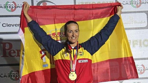 Fátima Gálvez, campeona del mundo de foso olímpico