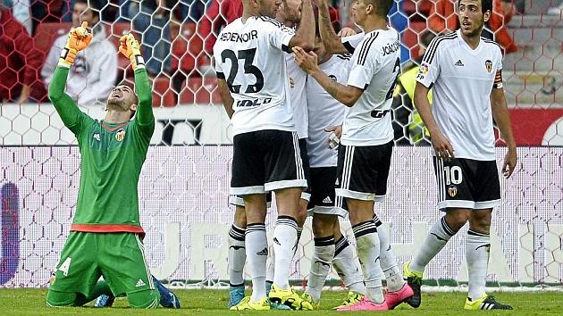 Jaume celebra la victoria ante el Sporting
