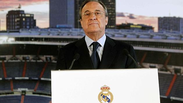 Florentino Pérez durante la presentación de Kovasic
