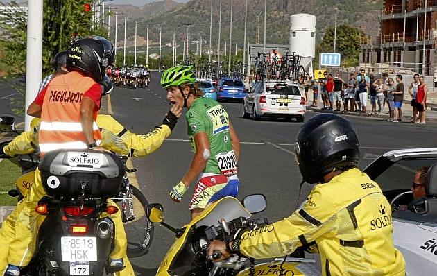 Sagan, tras el accidente que le obligó a abandonar. / Luis Ángel Gómez - Ciclismo a Fondo