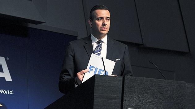 Markus Kattner, en un acto de la FIFA