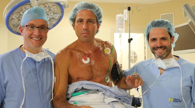 Hernán Auguste, operado con éxito de su hombro en la Clínica CEMTRO