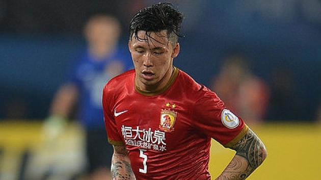 Zhang Linpeng, en un partido con el Guaghzou Evergrande