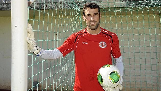 Giorgi Loria, portero de la selección de Georgia
