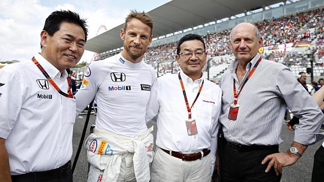 Arai, Button, Hachigo y Dennis, en el pasado Gran Premio de Japón /RV Racingpress