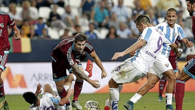 Iñigo, durante el partido frente al Málaga. FOTO: PEPE ORTEGA / MARCA