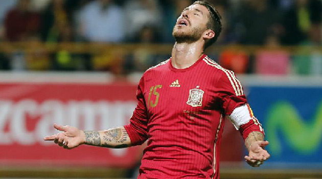 Sergio Ramos, ruled out for Spain