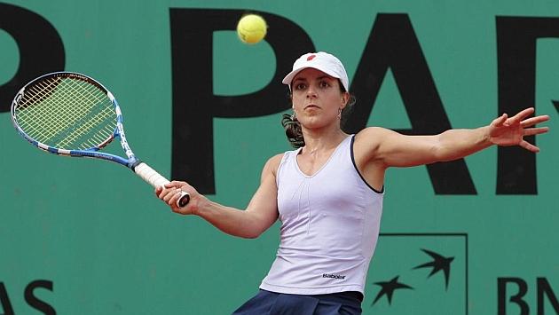 Nuria Llagostera en una imagen de archivo durante un partido de Roland Garros.