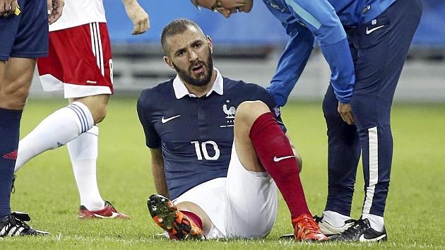 Benzema, lesionado con Francia. Foto: Eric Gaillard (RTRPIX).