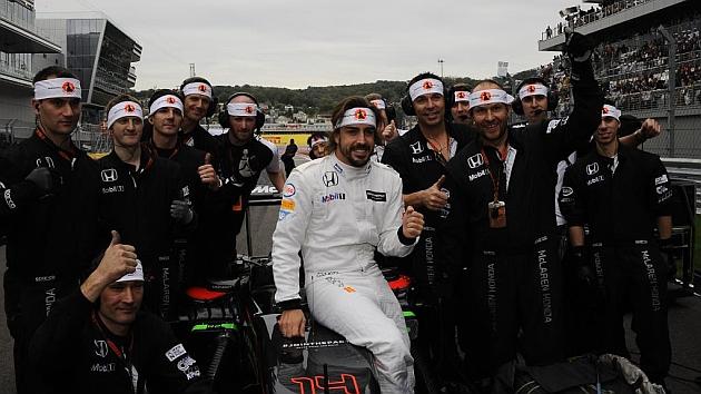 Fernando Alonso: Es una pena la sanción, pero estoy contento; el coche iba muy bien