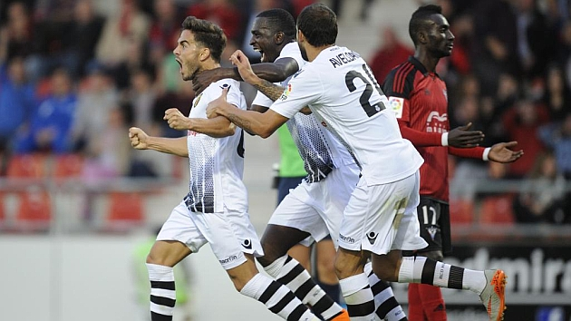 Ros celebra el gol del empate. Foto: Lino González (MARCA).