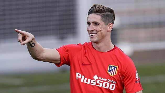 Torres, en un entrenamieto con el Atlético. Foto: Diego G. Souto (MARCA).