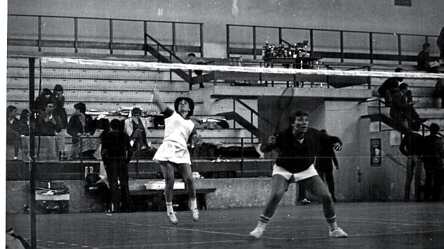 Carballal y Miguélez, durante una competición a finales de los 70.