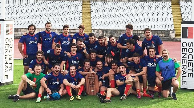 La selección española Sub-19 celebra su título europeo en Lisboa