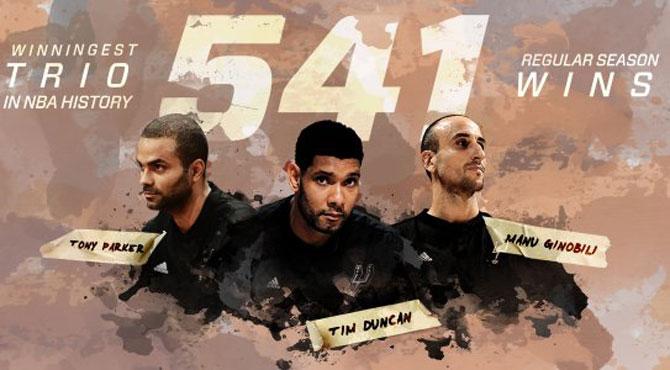 Duncan, Parker y Ginóbili ya son el mejor trío en la historia de la NBA