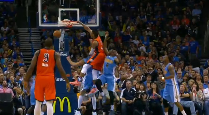 'Orange is the new dunk'; el particular homenaje de Westbrook al mate