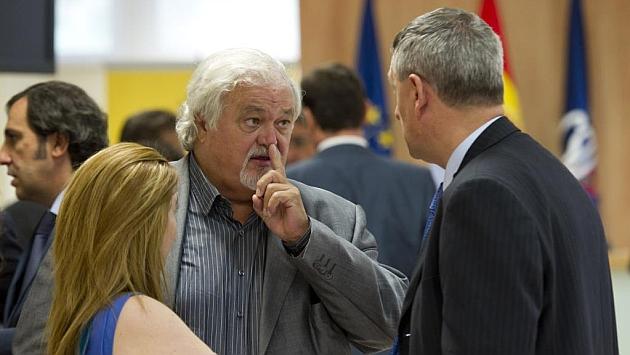 Rodrigo de Mesa, durante una reunión en el Consejo Superior de Deportes.