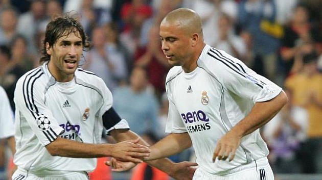 Raúl y Ronaldo durante su etapa en el Real Madrid