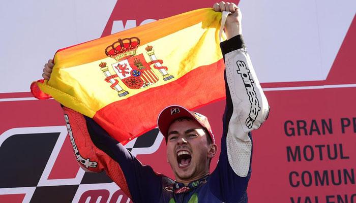 Jorge Lorenzo wins MotoGP world championship