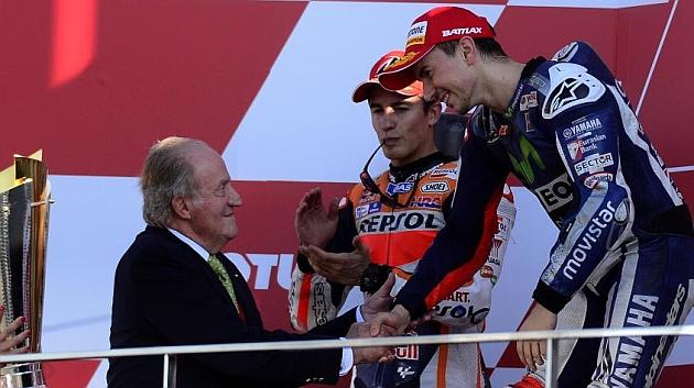 El rey Juan Carlos felicitó en persona a Lorenzo por su título