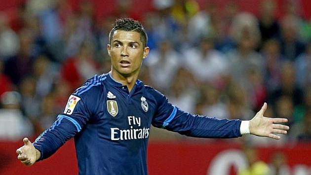 Cristiano lamentándose en el partido ante el Sevilla en el Pizjuán