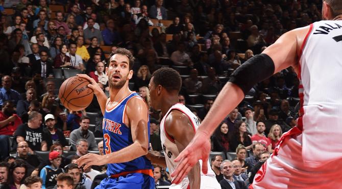 Calderón, titular, conquista Toronto con sus Knicks